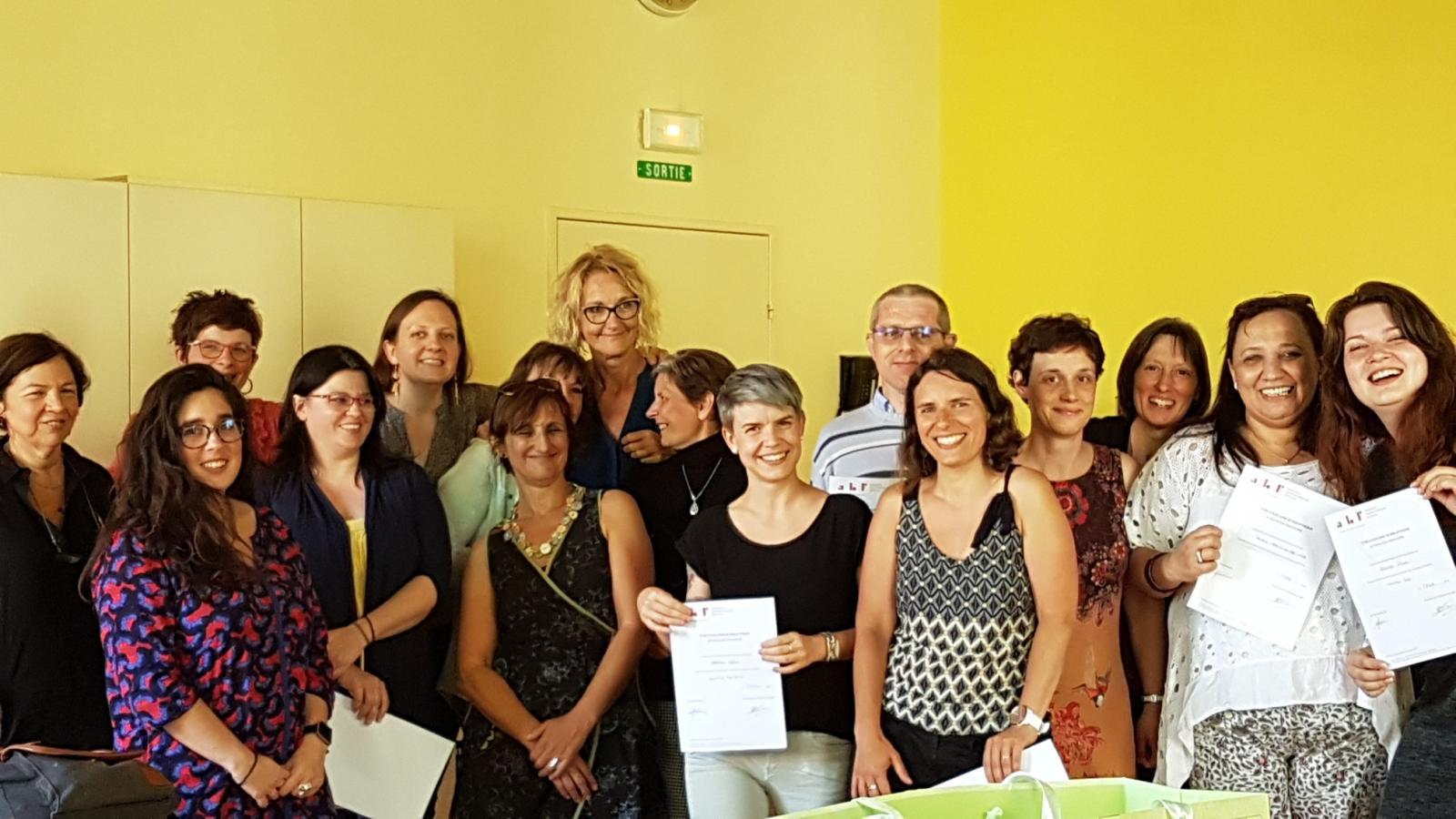 ésultats de la promotion 2018-2019 de la formation d'auxiliaire de bibliothèque Site Alsace