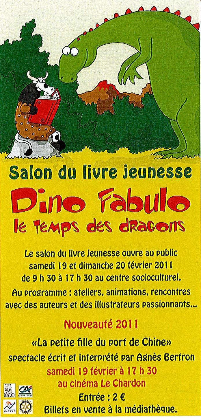 Salon du livre jeunesse dino fabulo au temps des dragons for Salon du livre france